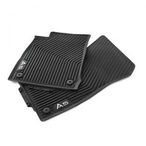 Резиновые передние коврики Audi A5 Sportback (T5/B9), контрастная надпись