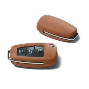 Кожаный футляр для ключа Audi, Cognac brown
