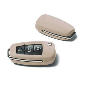 Кожаный футляр для ключа Audi, Magnolia white