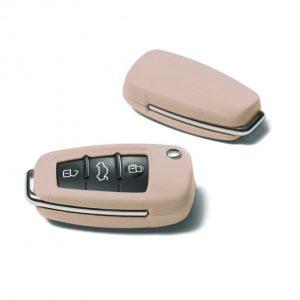Кожаный футляр для ключа Audi, Alabaster white