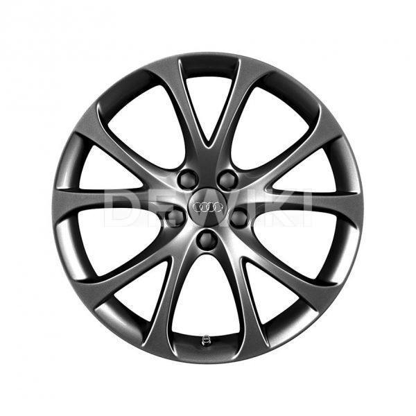Алюминиевый литой диск R17 дизайн 5 V-образных спиц Audi, Grey, 7,5J x 17 ET36