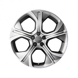 Алюминиевый литой диск R18 многоугольный дизайн 5 спиц Audi, Matt Silver, 7,5J x 18 ET39,5
