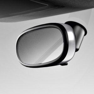Декоративная накладка внутреннего зеркала Audi A1, серебристый шелковый атлас, для зеркала без автоматического затемнения