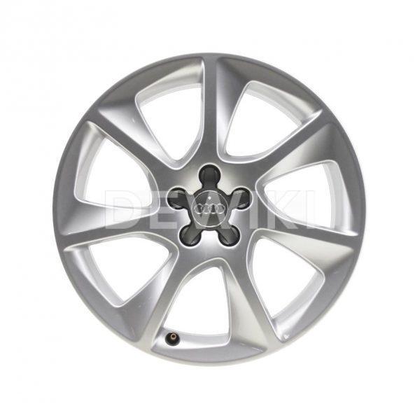Алюминиевый литой диск R17 в 7-спицевом дизайне Audi, Brilliant Silver, 7,5J x 17 ET36