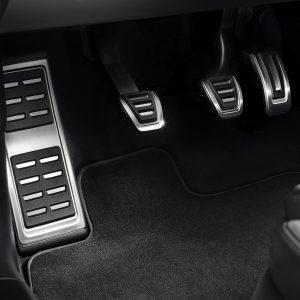 Накладки на педали Audi А1, для МКПП с опорой для ноги