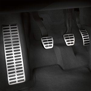 Накладки на педали Audi A1 (8X), для МКПП c опорой для ноги