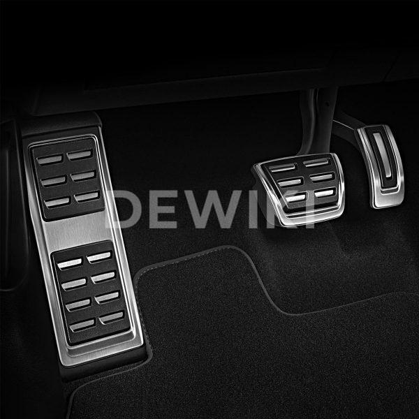 Накладки на педали Audi A1 (8X), для АКПП S tronic с опорой для ноги