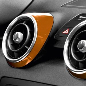 Декоративные накладки дефлекторов Audi A1, оранжевый Самоа