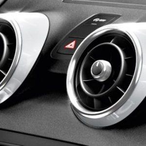 Декоративные накладки  дефлекторов Audi A1, серебристый лед