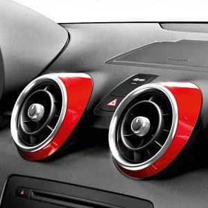 Декоративные накладки дефлекторов Audi A1, красный Мизано