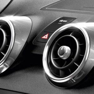Декоративные накладки дефлекторов Audi A1, серебристый шелковый атлас