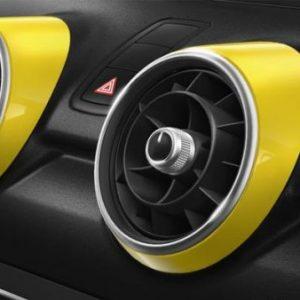 Декоративные накладки дефлекторов Audi A1, желтый Макао