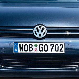 Накладка на бампер передний Volkswagen Golf 6 Variant