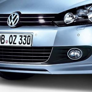 Накладка на бампер передний Volkswagen Golf 6