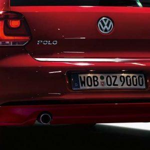 Накладка на задний бампер Volkswagen Polo 5