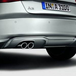 Диффузор заднего бампера Audi A3 (8V), для автомобилей с одинарным глушителем слева