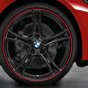 Комплект летних колес в сборе R20 BMW F30/F31/F32/F33/F36 Double Spoke 361 Black, Pirelli P Zero, без RDC, Runflat