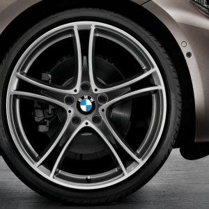 Комплект летних колес в сборе R20 BMW F30/F31/F32/F33/F36 Double Spoke 361 Ferricgrey, Pirelli P Zero, RDC, Runflat