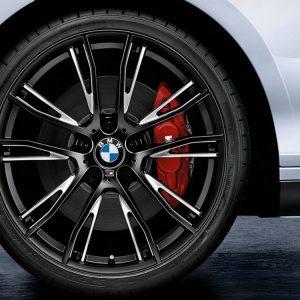 Комплект летних колес в сборе R19 BMW F20/F21/F22/F23 M Performance Double Spoke 624 M Black, Pirelli P Zero, без RDC, Runflat
