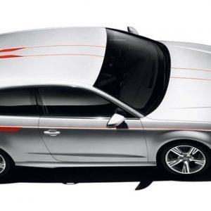 Акцентные полосы для Audi A3 (8V) 2014-н.в., Colour kit red