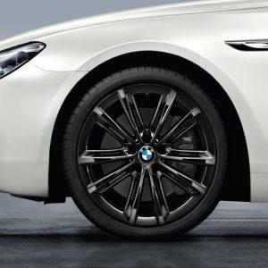 Комплект летних колес в сборе R20 BMW M Performance V Spoke 464 M Liquid Black, Bridgestone Potenza RE050 A, без RDC, Runflat