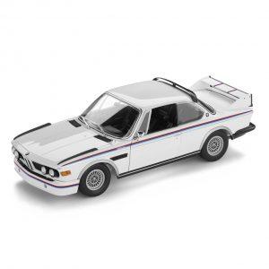 Миниатюрная BMW 3.0 CSL (1971) Heritage Edition, White, масштаб 1:18