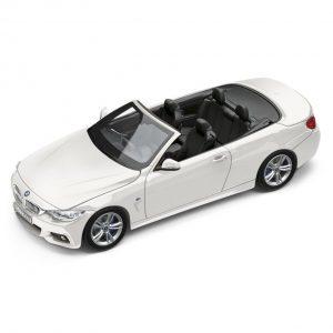 Миниатюрная модель BMW 4 серии Convertible, Alpine White, масштаб 1:43
