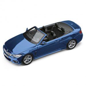 Миниатюрная модель BMW 4 серии Convertible, Estoril Blue II, масштаб 1:43