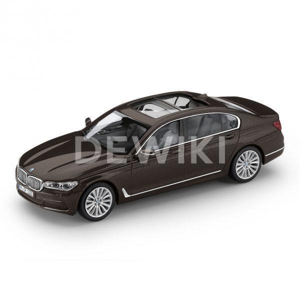 Миниатюрная модель BMW 7 серии Long версии, Jatoba Brown, масштаб: 1:43