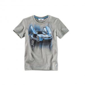 Детская футболка BMW i с принтом i8, Grey Melange