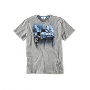 Мужская футболка BMW i с принтом i8, Grey Melange