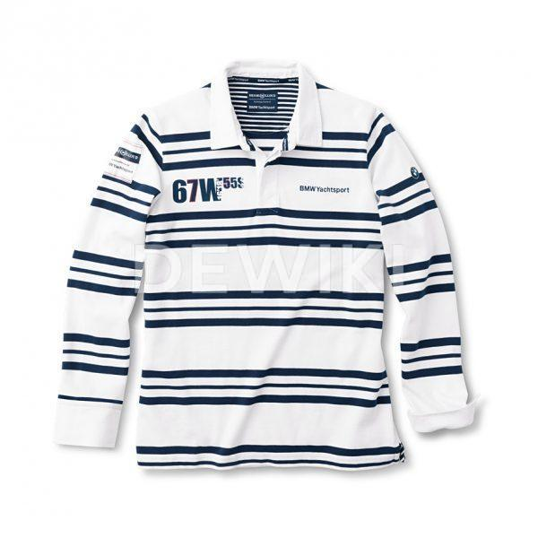 Мужская рубашка BMW Rugby Yachting, White / Blue