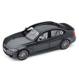Миниатюрная  модель BMW M3 F80 Competition, Mineral Grey, масштаб 1:18