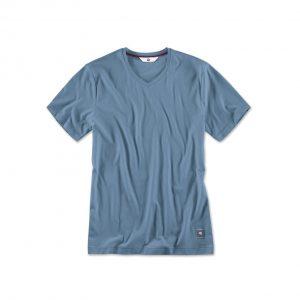 Мужская футболка BMW V-вырез, Steel Blue