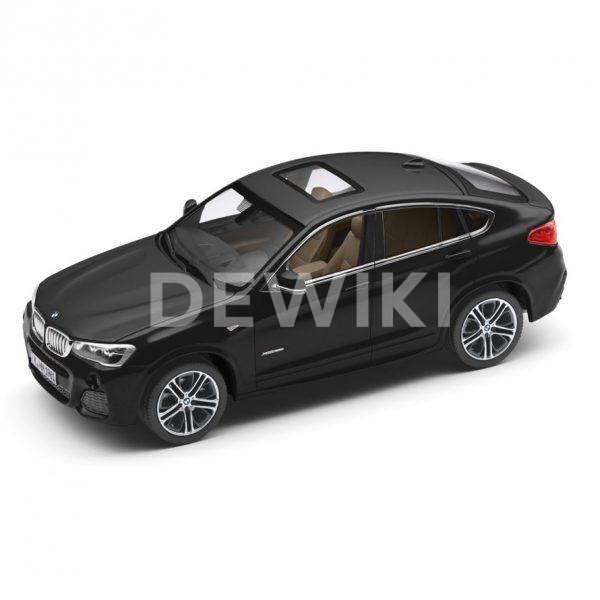 Миниатюрная модель BMW X4, Black Sapphire, масштаб: 1:43
