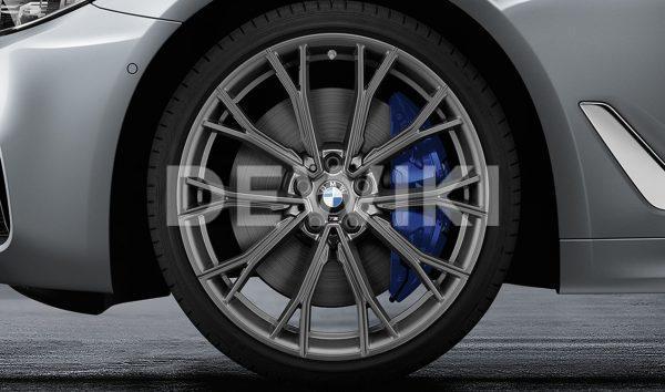 Комплект летних колес в сборе R20 BMW G30/G31 M Performance Double Spoke 669 M Orbitgray, Pirelli P Zero, RDC, Runflat