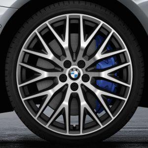 Комплект летних колес в сборе R20 BMW G30/G31 Cross Spoke 636 Orbit Grey, Goodyear Eagle F1 Asymmetric 3 ROF, без RDC, Runflat
