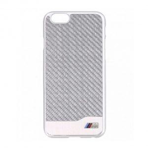 Крышка-чехол BMW для iPhone 6 M-Collection Carbon & Aluminium Finish, Silver