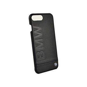 Кожаный чехол для iPhone 7 BMW Logo Imprint Black