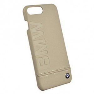 Кожаный чехол для iPhone 7 BMW Logo Imprint Taupe