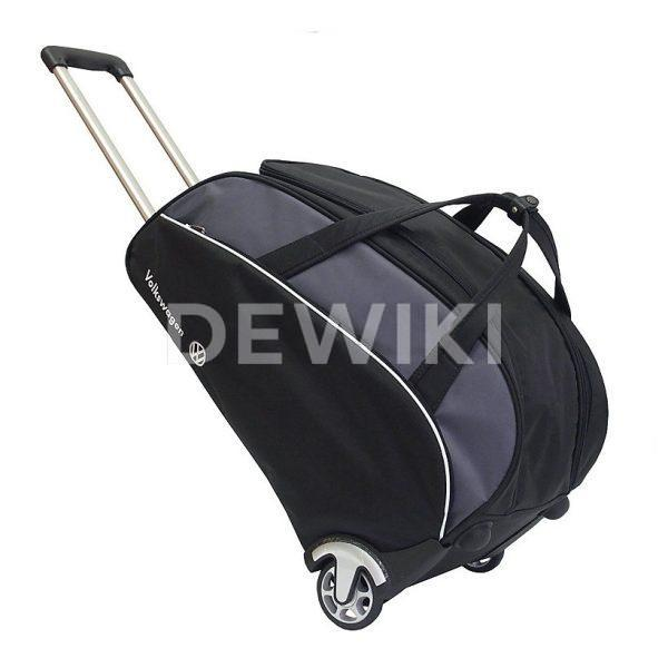 Дорожная сумка на колесиках Volkswagen, Black / Grey