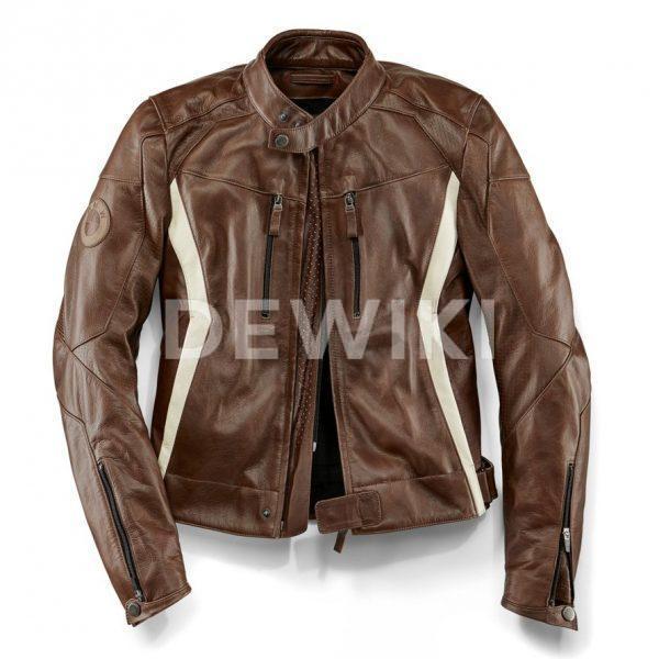 Мужская кожаная мотокуртка BMW Motorrad DoubleR, Brown