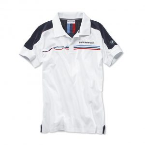 Мужская рубашка-поло BMW Motorsport, White/Blue