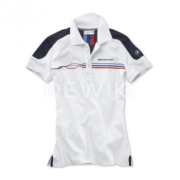 Женская Fan рубашка-поло BMW Motorsport, White/Blue