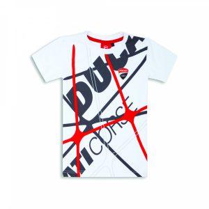 Детская футболка с рисунком Ducati Corse, White