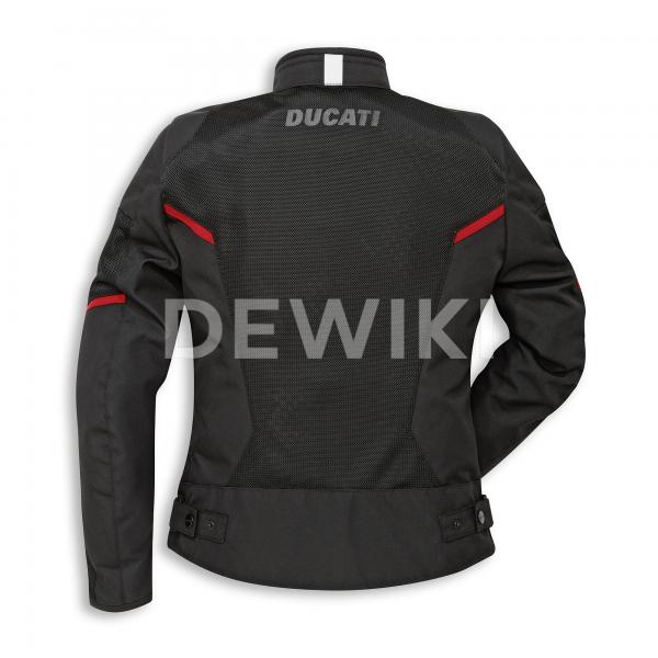 Женская текстильная мотокуртка Ducati Flow C3, Black/Red