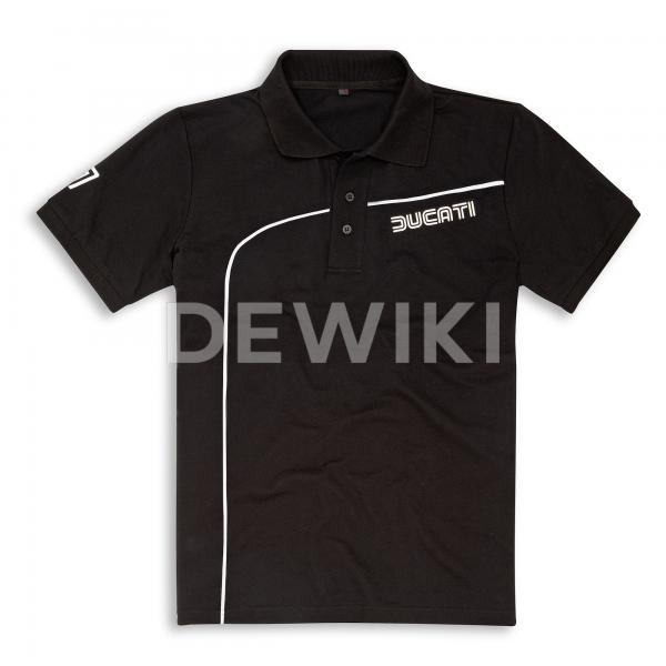Мужская рубашка-поло Historical 77 Ducati, Black