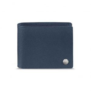 Кожаный кошелек BMW без отделения для монет, Blue