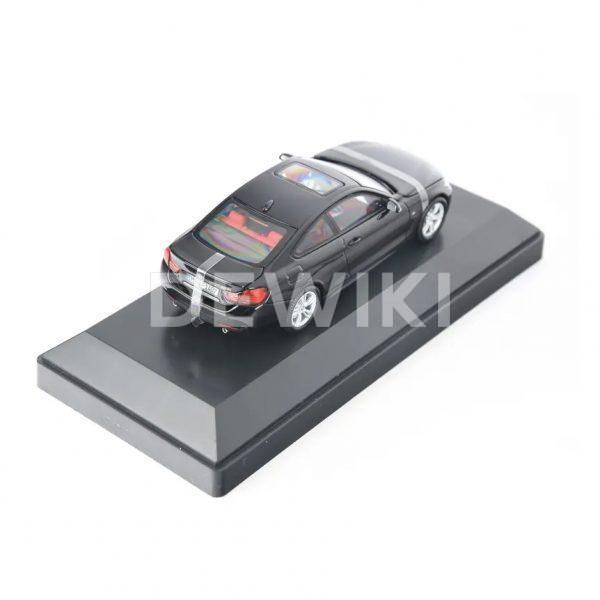 Миниатюрная модель BMW 4 серии Coupe, Black Sapphire, масштаб: 1:43