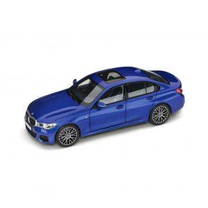 Миниатюрная модель BMW 3 серии (G20), Portimao Blue, масштаб 1:18